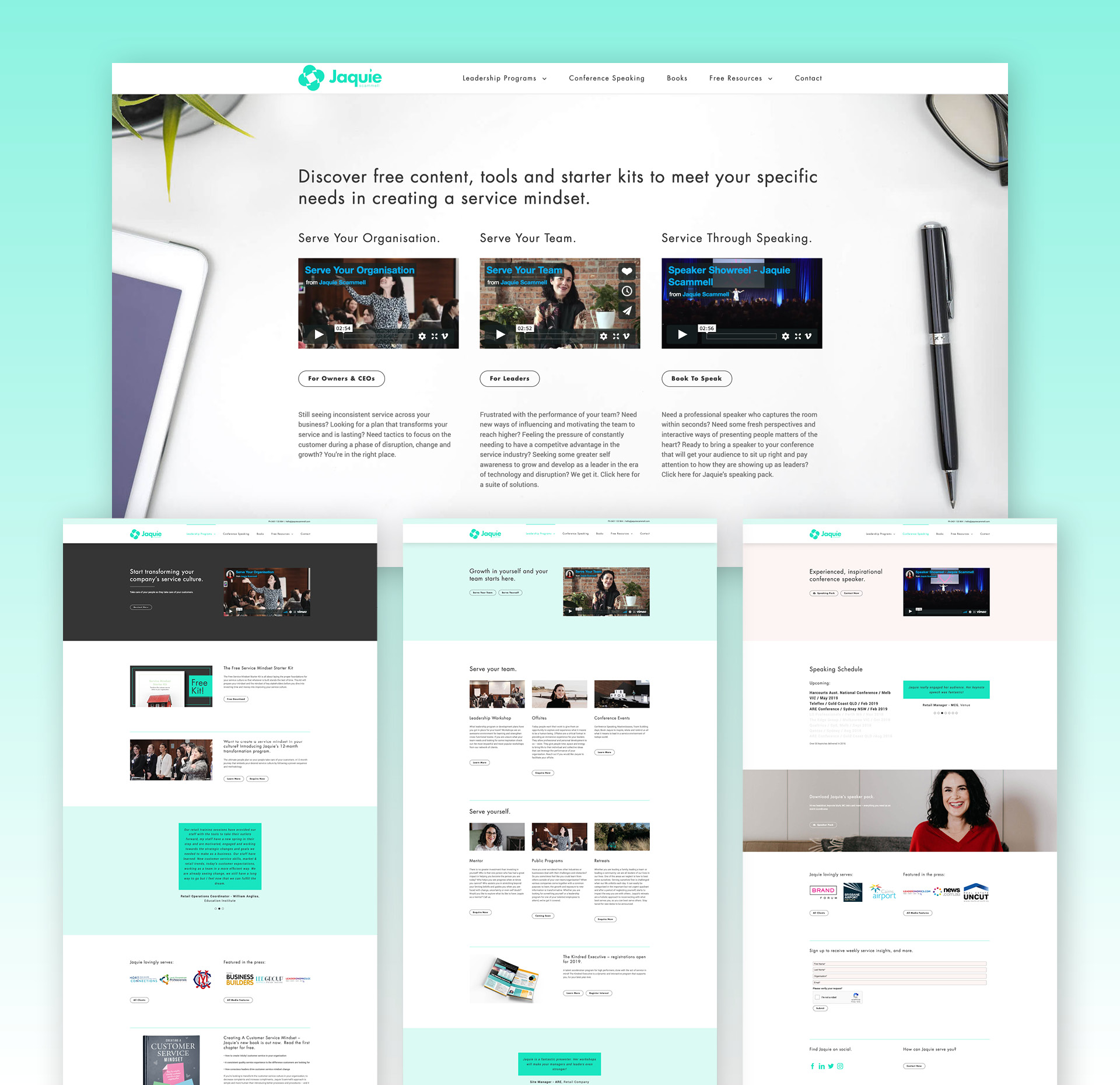 Jaquie Scammell Website User Filter And Pages