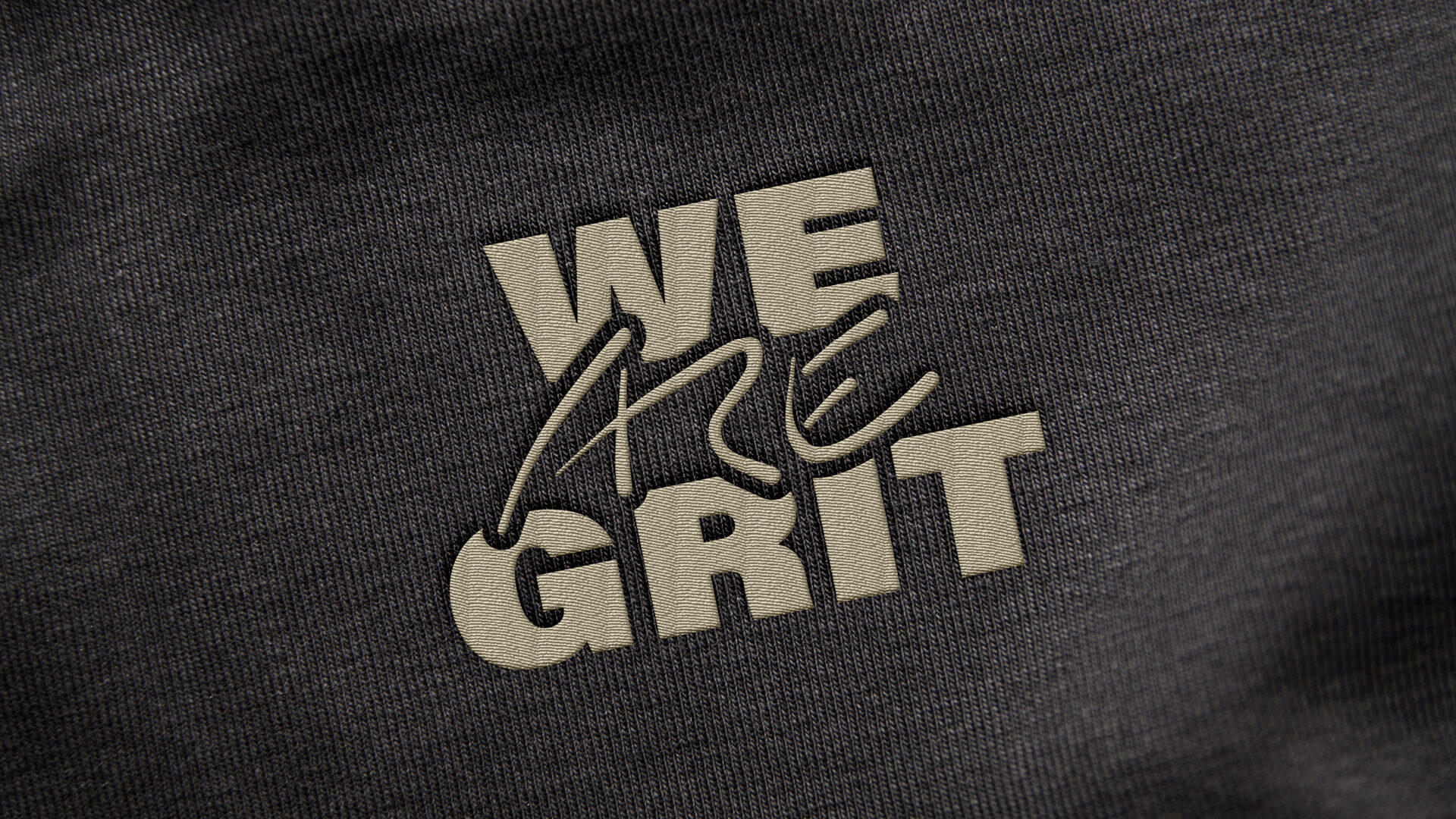 We ARE Grit – Embroided Logo