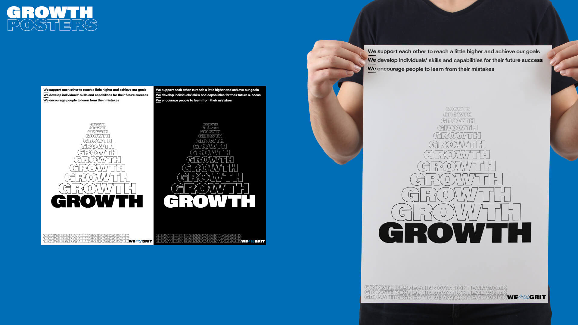 We ARE Grit – Growth Poster