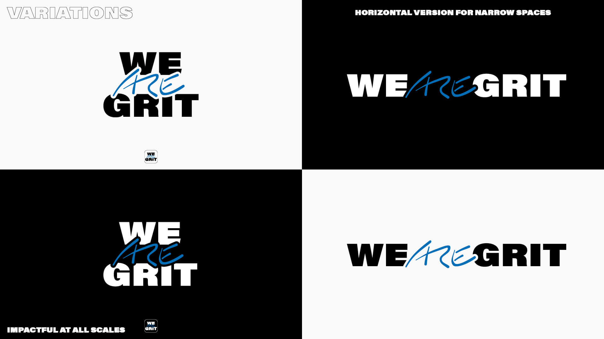 We ARE Grit – Logo Variations