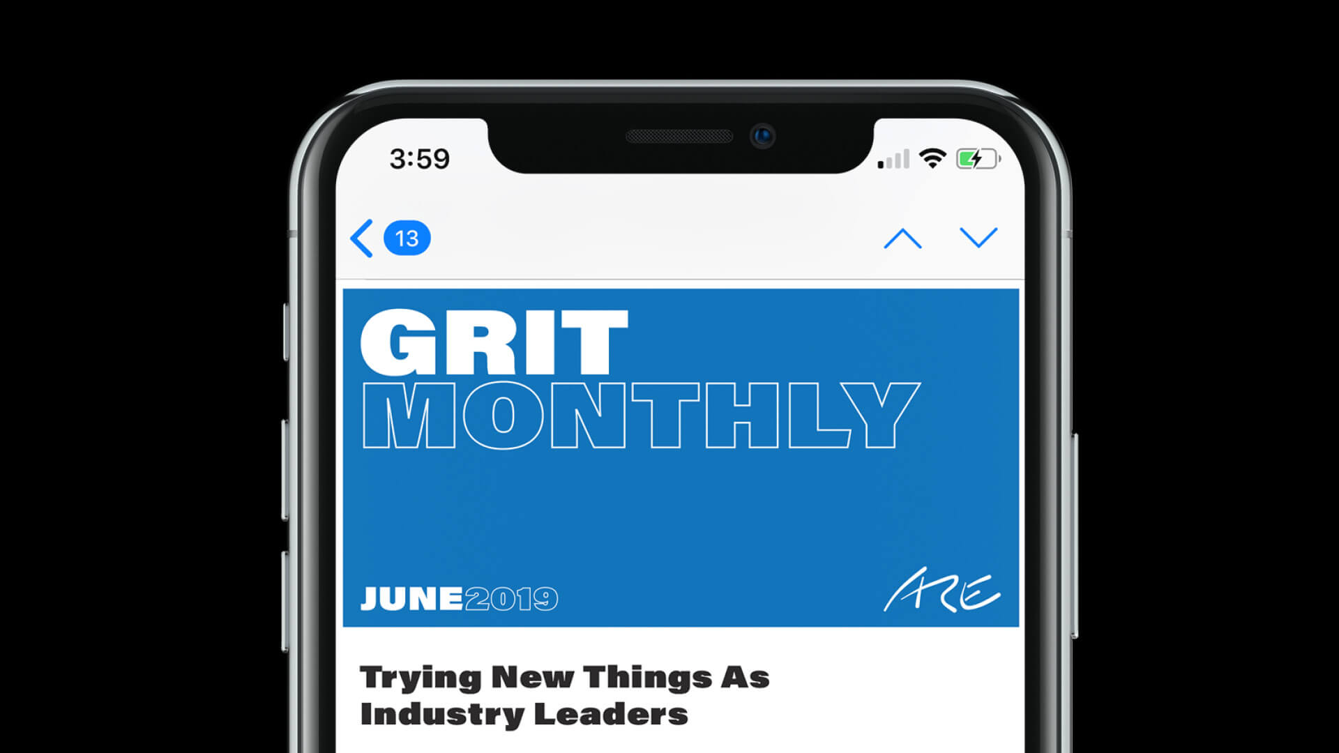 We ARE Grit – Newsletter Banner